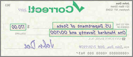 Comment remplir correctement un chèque